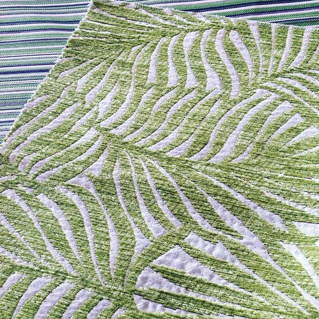 Ohhhh Palm Springs, what a day to be green  From the desk of our design team.....proudly designed & woven in Australia #hotelhomeaust #textiledesign #hotelfabric #interiordesign #upholstery #palmsprings #palmfabric #cushions #australianmade