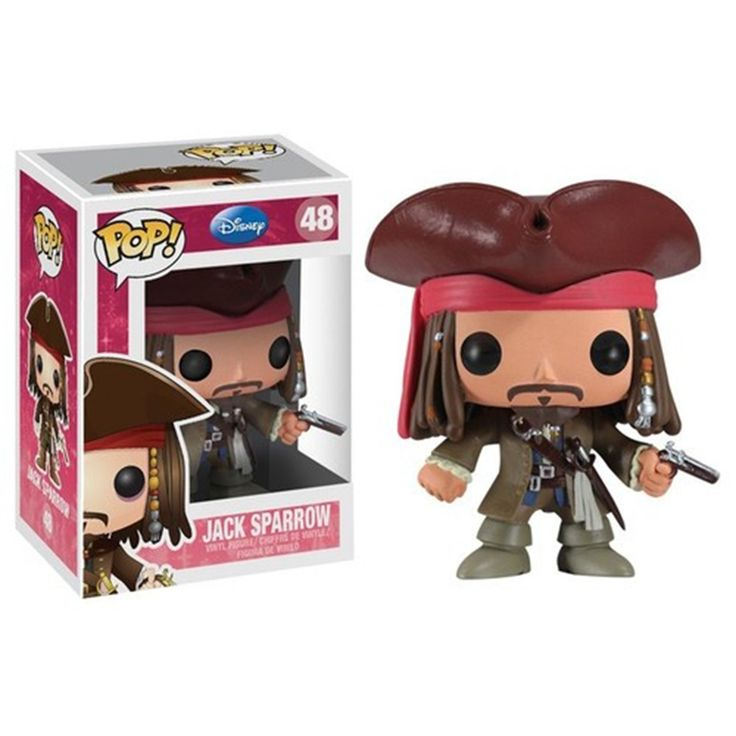 This is a Jack Sparrow POP Vinyl Figure that is produced by the nice folks over at Funko. That's Captain Jack Sparrow! He looks great in his Funko POP Vinyl style. Everyone's favorite pirate is sort o