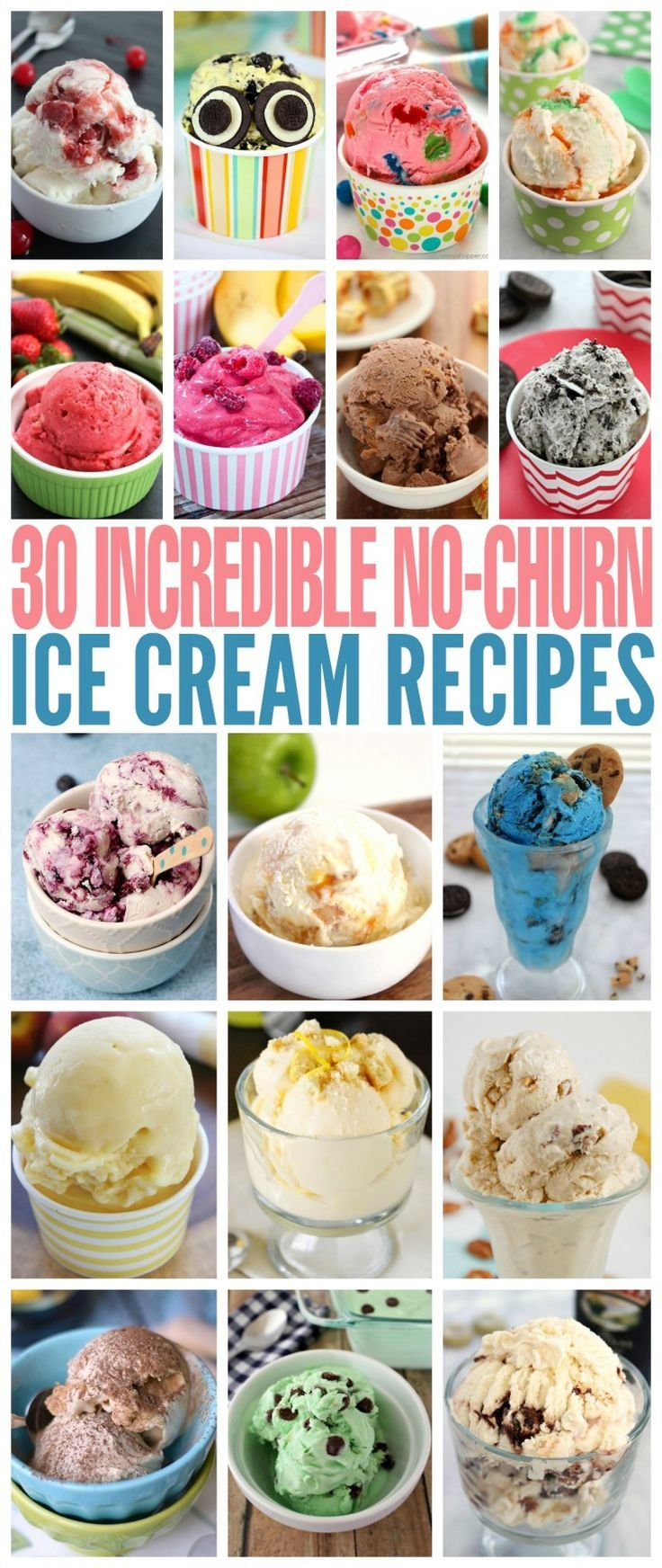 These 30 Incredible No-Churn Ice Cream Recipes are all super easy to make at home. Ice Cream has never been so good! They are sure to be crowd pleasers all summer long.