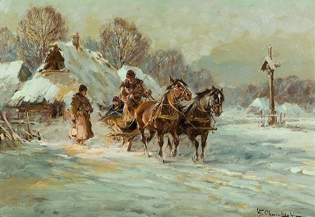 Chmielinski - Winter in the countryside