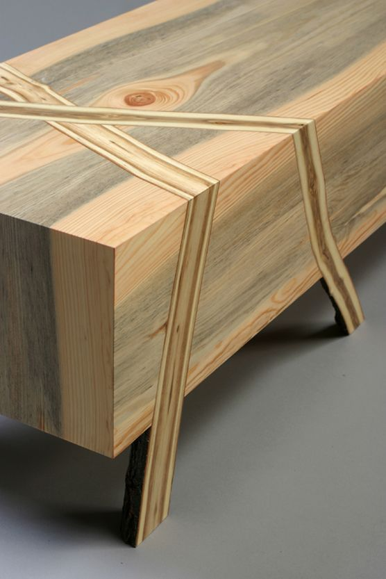 RYNTOVT DESIGN: We Love This Effect, Integrating Live Edges Into Joinery.  Bring Some · Wood FurnitureLive ...