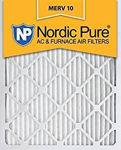 Nordic Pure 14x24x1 MERV 10 Pleated AC Furnace Air Filter, Box of 18