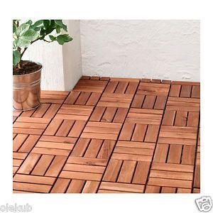 Ikea Runnen Patio Deck Interlocking Tiles