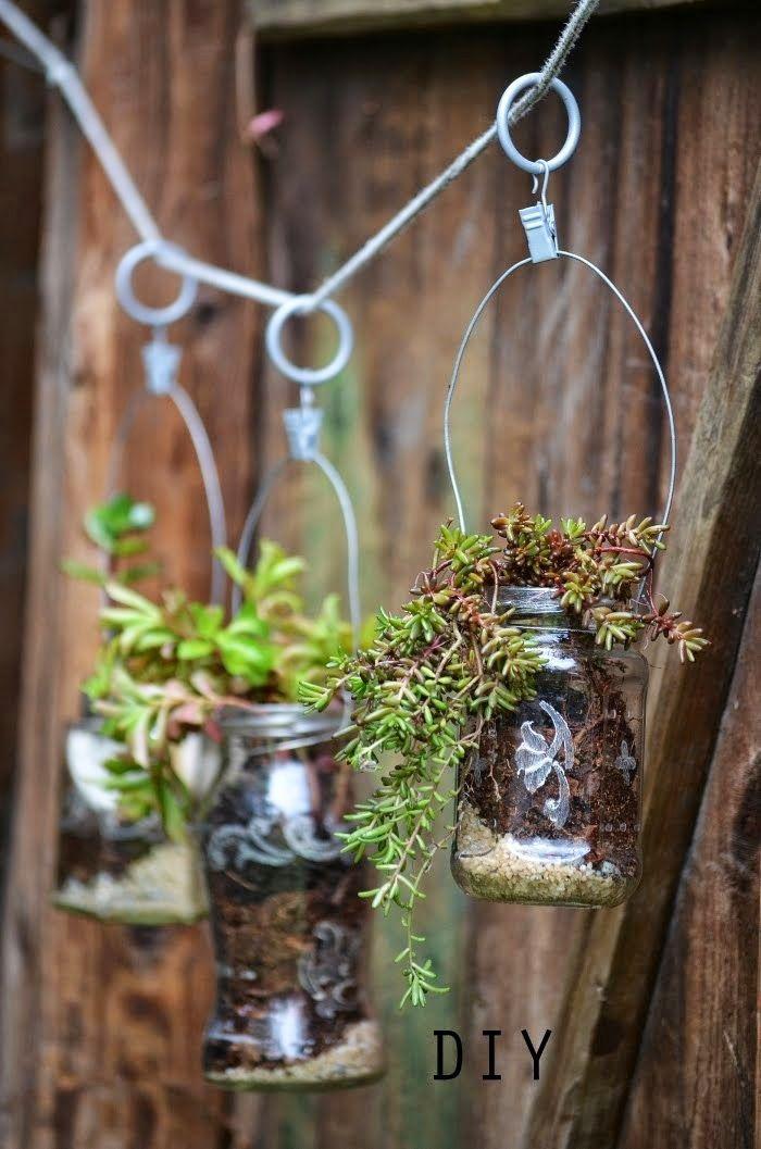 Jane at home: DIY - recyklované závěsné květináče