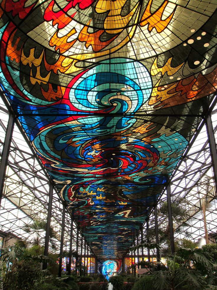 El COSMOVITRAL, art nouveau, en Toluca Estado de México, built between 1909 and 1933, by artist Leopoldo Flores and local artisans. Jardín Botánico