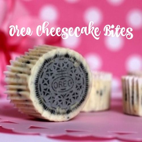 Oreo cheesecake bites recipe. The perfect dessert for your sweet tooth. #dessert #recipe #cookies