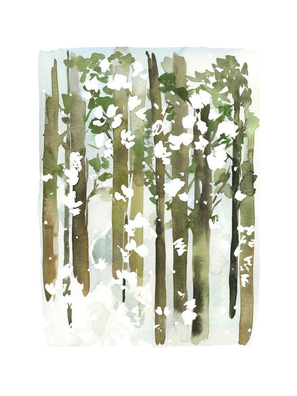 This reminds me of Christmas- Forest Snow by Yao Cheng for Minted