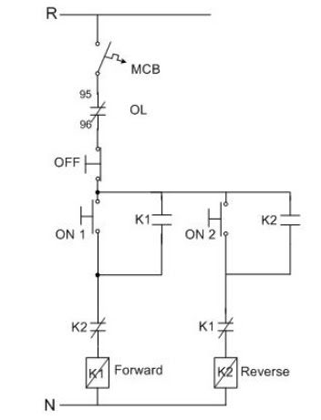 turning round phase induction motors forward  reverse