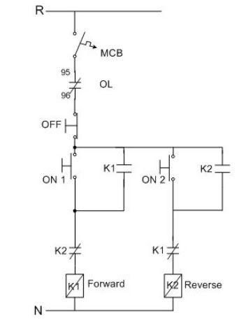 turning round phase induction motors forward  reverse