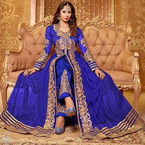 Finesse Royal Blue Anarkali