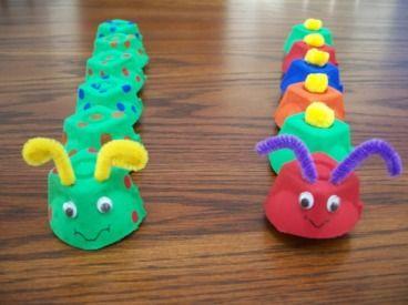 orugas: Summer Crafts, Crafts For Kids, Crafts Ideas, Eggs Boxes, Kindergarten Crafts, Eggs Cartons Crafts, Kids Crafts, Hungry Caterpillar, Eggs Cartons Caterpillar