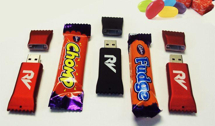 Candy bar shaped USB Thumb Drives!