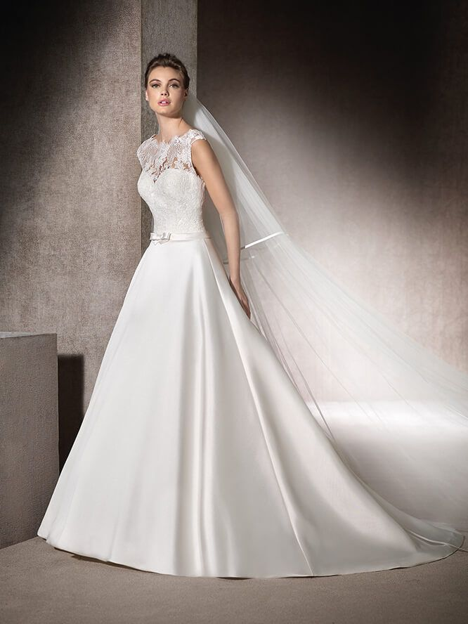 Brautkleid Carré-Ausschnitt - Morgan