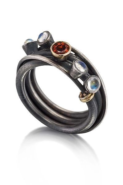 Vine Ring: Christine MacKellar: Silver & Stone Ring