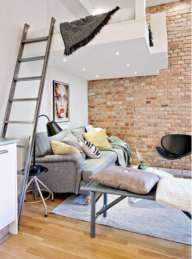 Pat suspendat într-o garsonieră de 32 m² | Jurnal de design interior