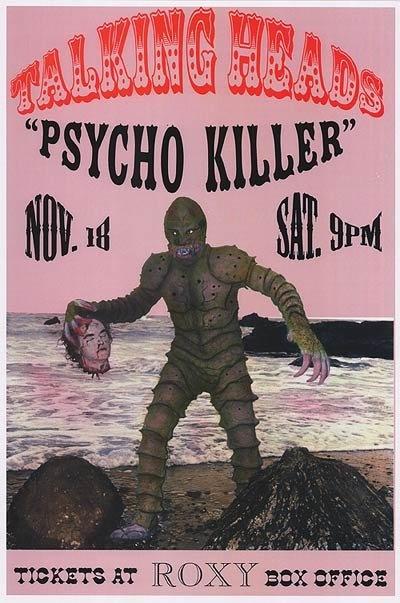 Framed Talking Heads Poster, Psycho Killer Poster