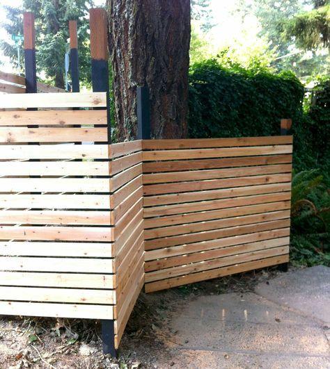 Horizontal Fence Diy: Best 25+ Modern Fence Panels Ideas On Pinterest