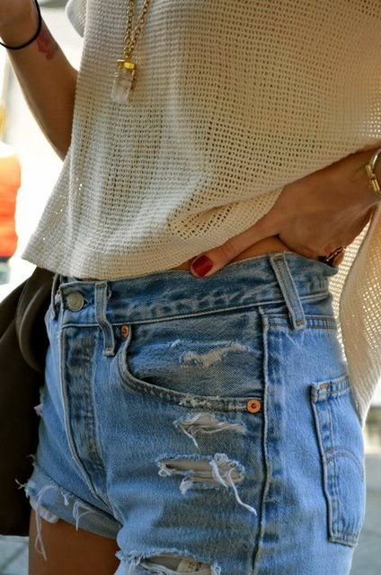 All of this , especially crystal and cut offs soo me!, like everyday! this is super cute w this summer sweater!