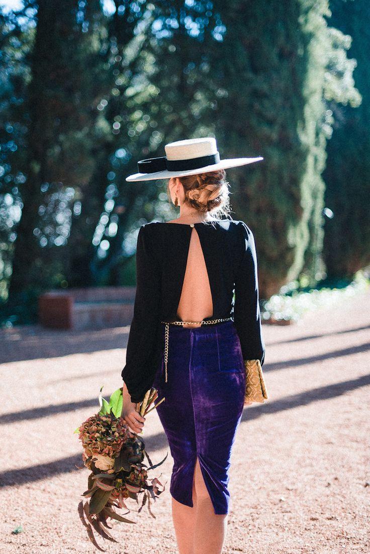 look_invitada_boda_miss_cavallier_ Look invitada invierno -tonos oscuros - boda de dia invierno - vestido terciopelo