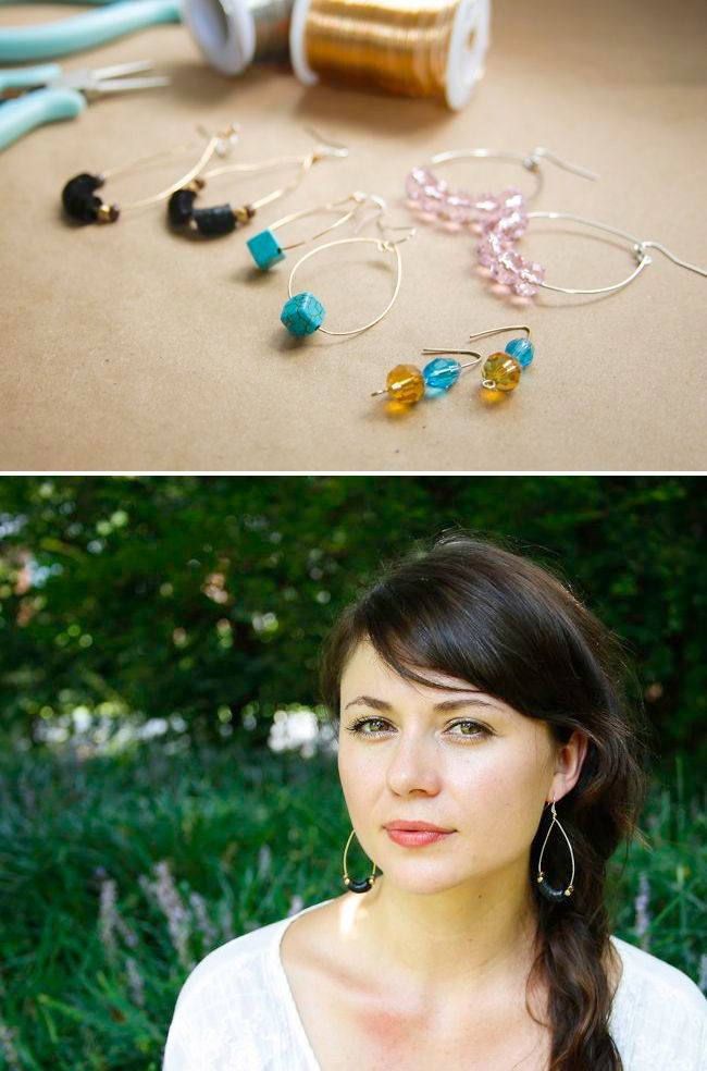 3 Ways to DIY Your Own Earrings (In 5 Minutes or Less) | http://hellonatural.co/diy-earrings-3-ways/