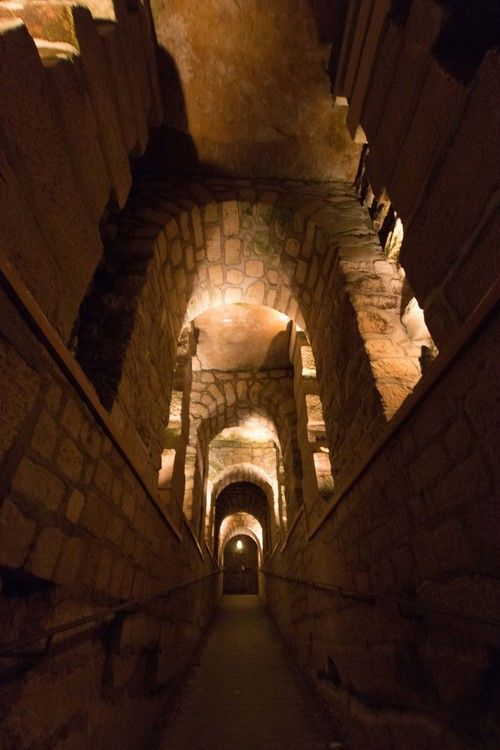 Stunning arched walkway in the catacombs