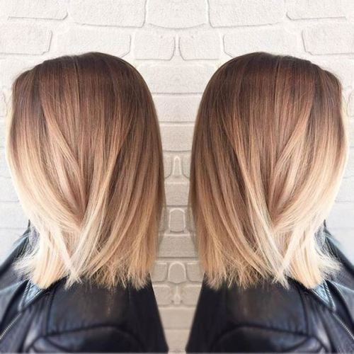 long bob cut STRAIGHT BOB + BLONDE BALAYAGE                                                                                                                                                                                 More