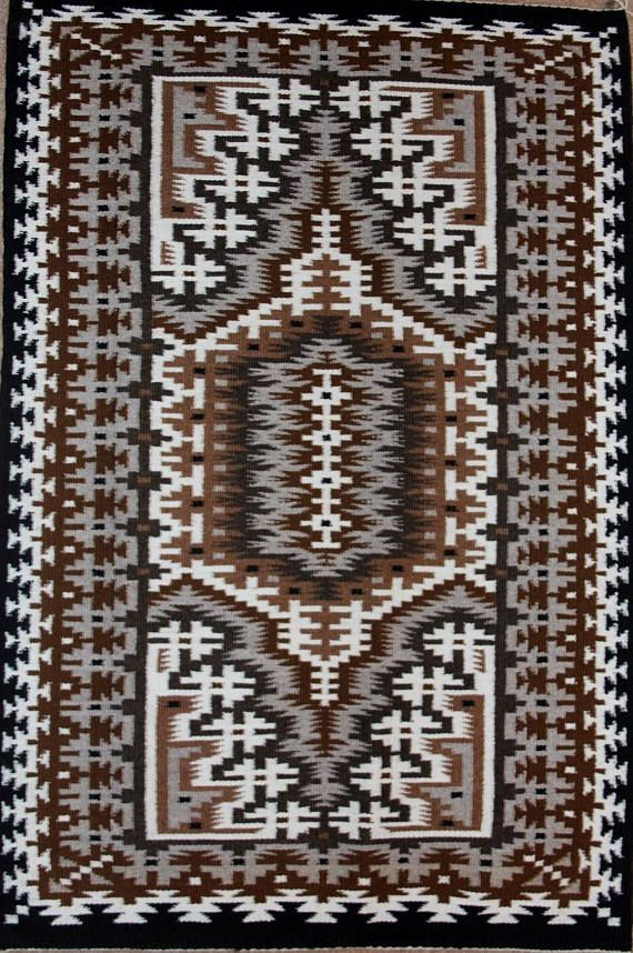 Native American, Extra Fine, Navajo Two Gray Hills Weaving, by Teresa Foster, #1154