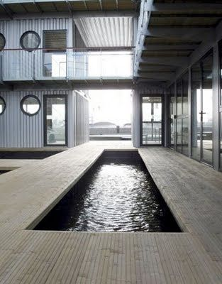 shipping container pool. Unique, simple design pool...