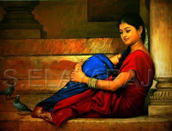 Indian artist illayaraja painting