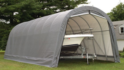 Weather-Shield Portable Garage Shelter **Round Style Roof - Heavy Duty - Fully Enclosed **Everything you need & ready to assemble **Prices from $1097**See: http://www.hiscoshelters.com/ **Come check out our website explore what we have because there are free shipping both ways you can feel comfortable you are going to get good purchase from us #roundroofgarage #shelter #garage #portablegarage