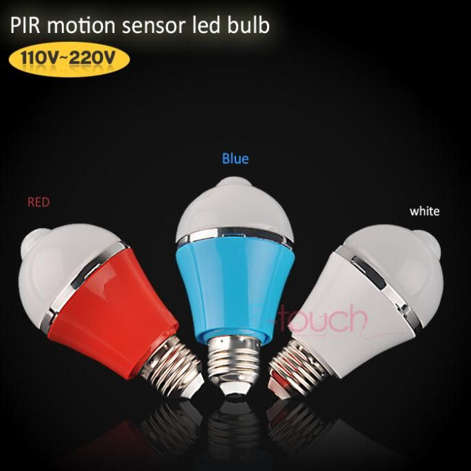 High quality  E27 LED bulb motion sensor light lamp 5W/7W LED light  bulbs, free shipping  (ET123)-  Item Type: Path Lights  Light Source: LED Bulbs  Warranty: 6 months  Certification: CCC,CE,RoHS  Is Dimmable: No  Style: Traditional  Base Type: E27  Voltage: 220V  Is Bulbs Included: Yes  Power Source: AC  Model Number: 123  power: 5W/7W  Lumens: 390Lm/480Lm  LED type: 5730 LED 10pcs/5730 LED 14pcs  Operation Voltage: AC85-265v  Lamp Base: E27  Sensor angle(degree): 360 degree  Sensor…