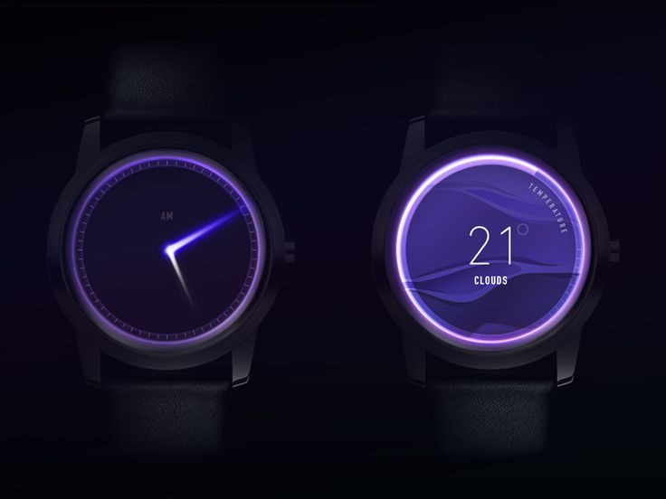 The Top 5 High End SmartWatches Compared Clock Glow Concept by Gleb Kuznetsov✈