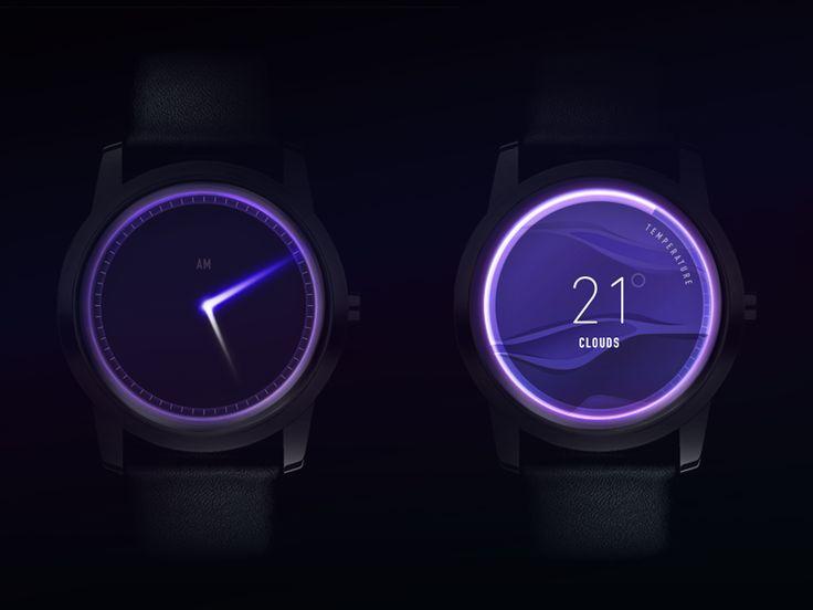 Clock Glow Concept by Gleb Kuznetsov✈