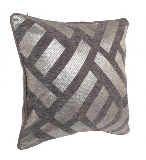 FABRIC CUSHION COVER IN PINK GOLD_BROWN 45X45
