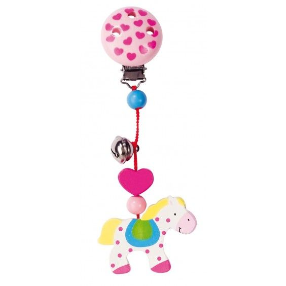 Even baby can horse around with Heimess' Clip on Pony pram toy #heimess #babytoys #pony