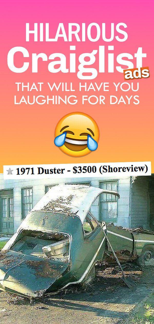 Hilarious and Bizarre Craigslist Ads | Funny craigslist ...
