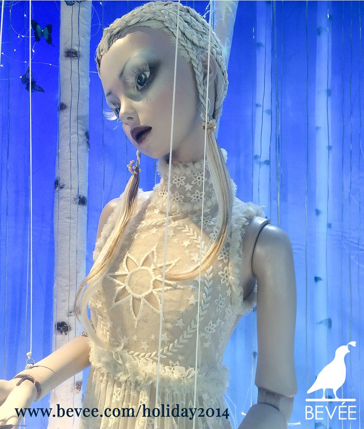 BEVÉE ❤'s Harrods Holiday Windows 2014. Land of Make Believe Unveiled with the help of designers Stella McCartney and Alexander McQueen. #beveebags #beveeLife