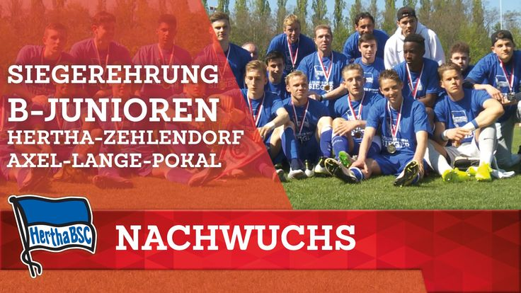 Siegerehrung Hertha BSC - Hertha 03 Zehlendorf (B-Junioren) Axel-Lange-Pokal - Berlin - 2016 #hahohe