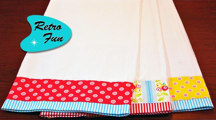 great tutorial for making tea towels