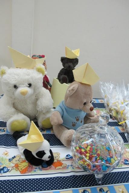 decoração com os ursinhos das convidadas #babyshower