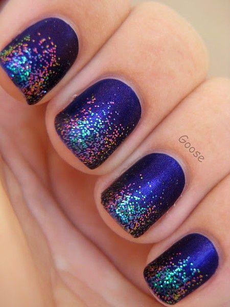 NailsGlitternails, Matte Nails, Nails Art, Sparkle Nails, Glitter Nails, Glitter Tips, Nails Polish, Sparkly Nails, Blue Nails