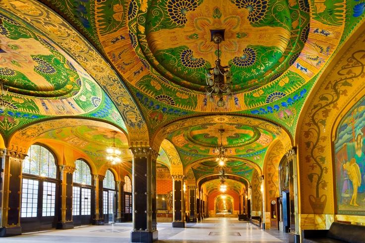 Art Nouveau,  Palace of Culture,Targu Mures, Romania by Arpad Benedek, via 500px www.romaniasfriends.com