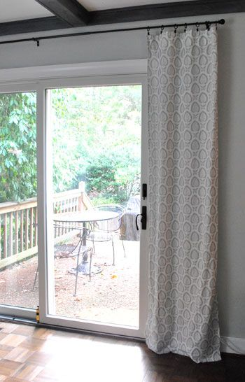 Looking for something like this for our sliding door! It's hard to find cute blackout/heavy curtains.