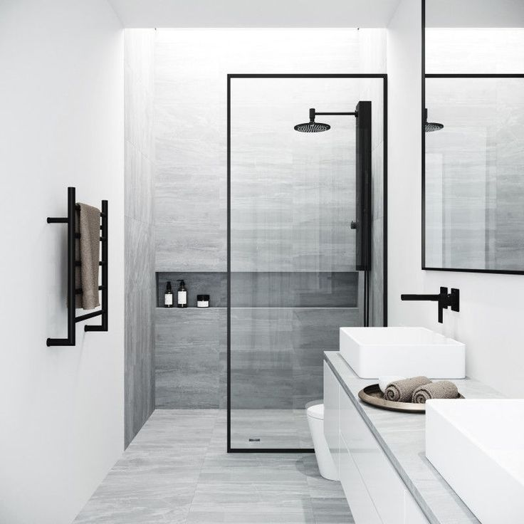 Bathroom Design Idea Black Shower Frames Cpmplete Your