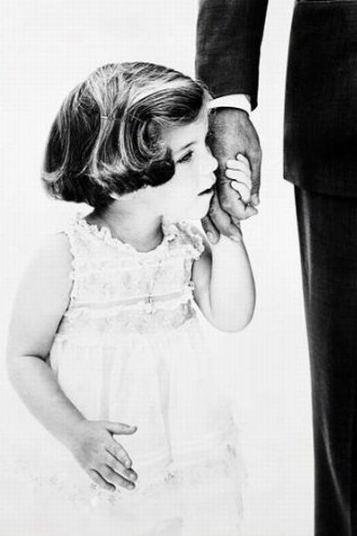 Caroline Kennedy and her Daddy J.F.K.