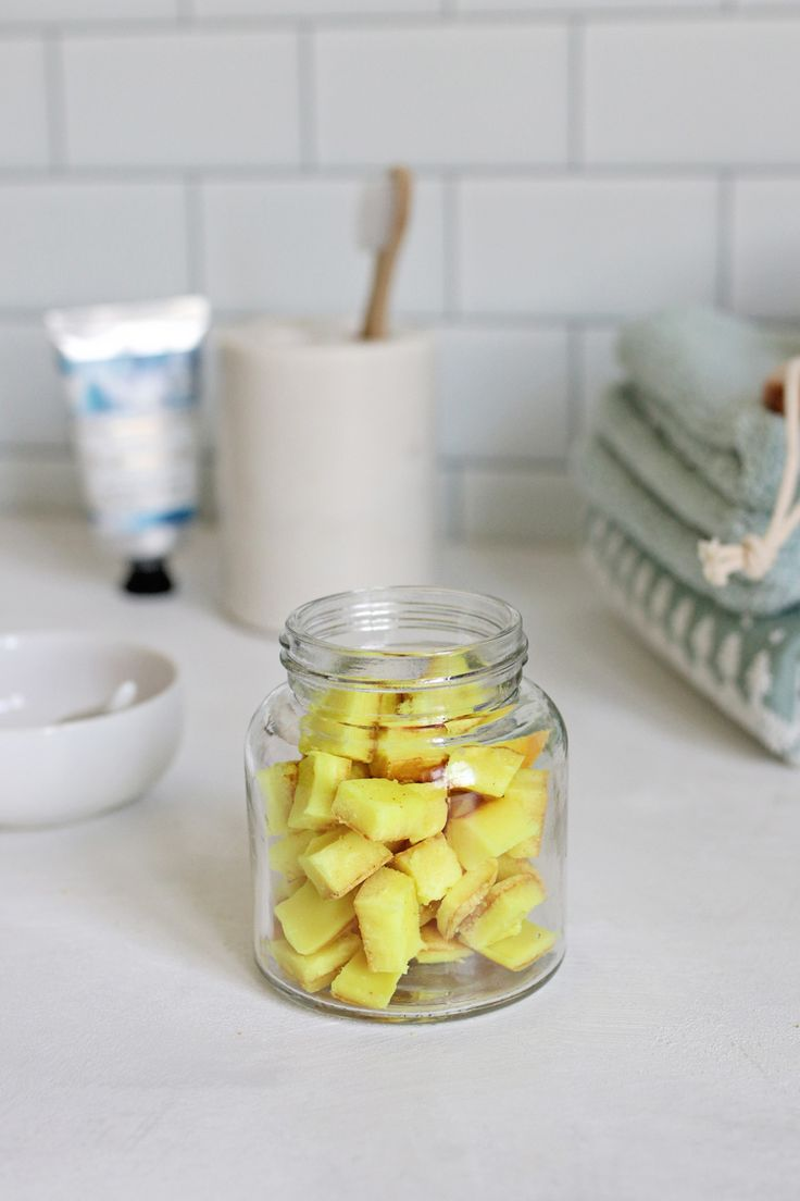 These turmeric mouthwash drops are made with coconut oil, ground turmeric, and a little bit of citric acid and baking soda to make them fizz.