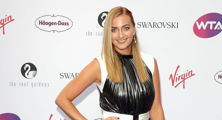 Two-time champ Petra Kvitova arrives at the WTA Pre-Wimbledon Party. (Getty)