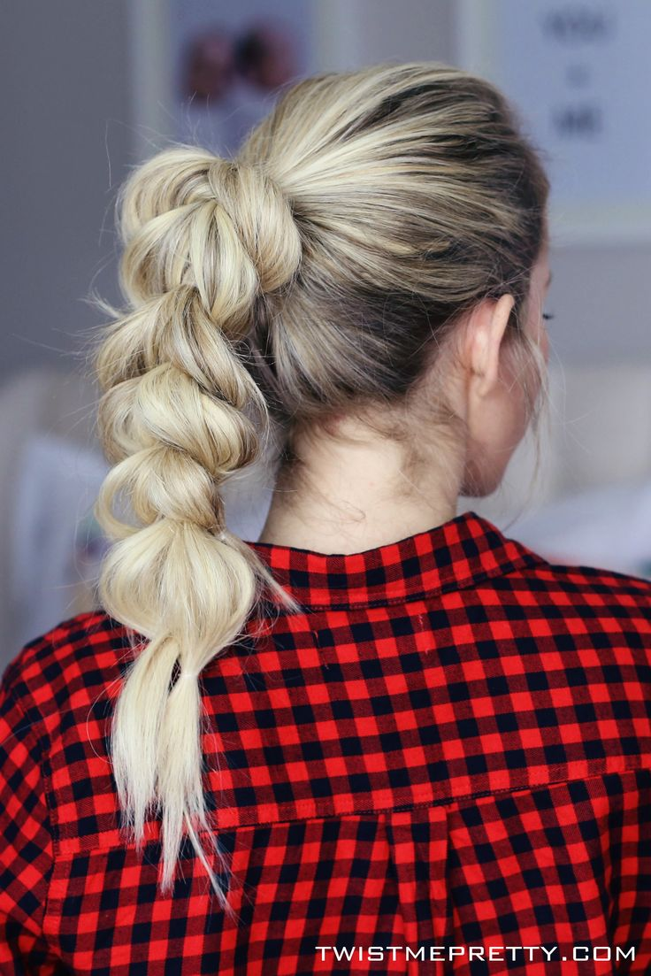 I'm dying over this pull-through braid. Her tutorial is so easy