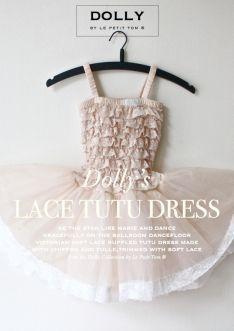 Krajkové TUTU šaty krémové