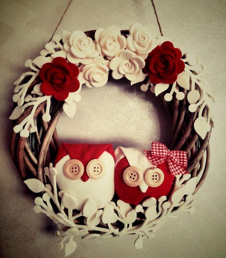 Love this owl wreath
